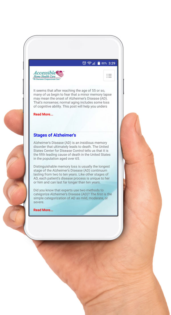 Accessible Alzheimer's and Dementia App