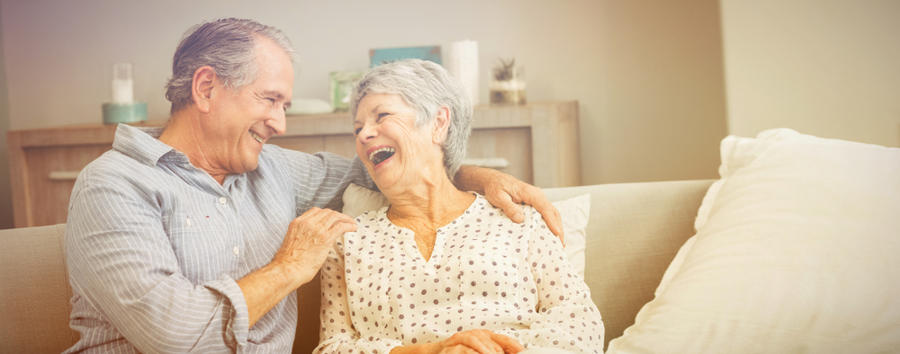 Loving Senior Couple Enjoying Aging in Place