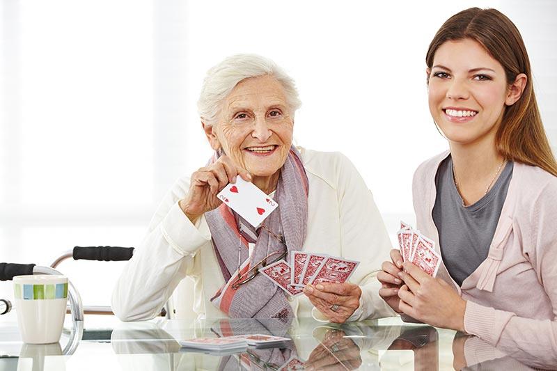 Women Senior with Caregiver Activities